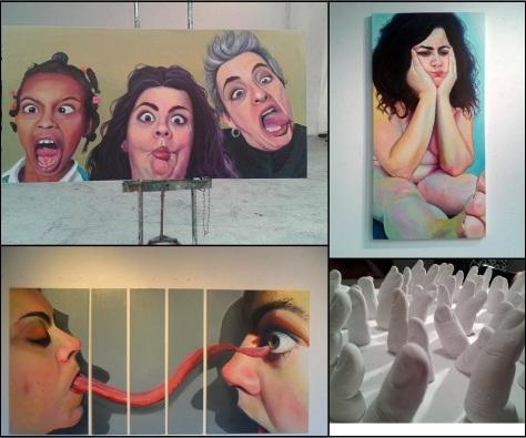 Le talent remarquable de Paméla, en toiles et en sculptures