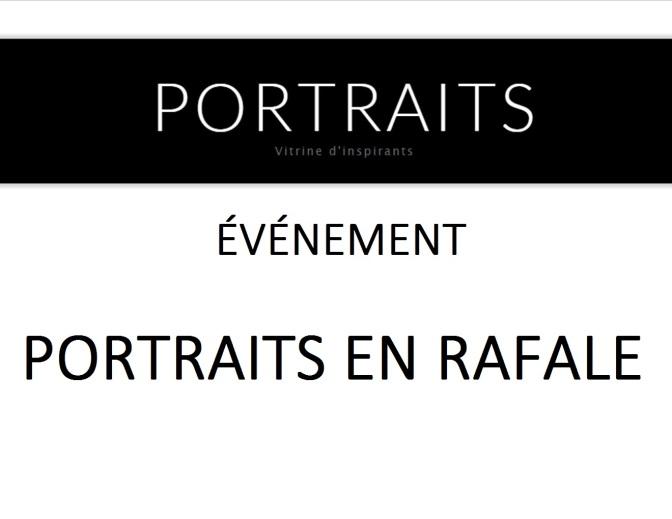 Retour sur l'événement Portraits en rafale