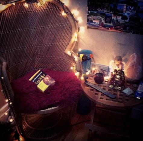 Mon espace de relaxation, lecture et méditation