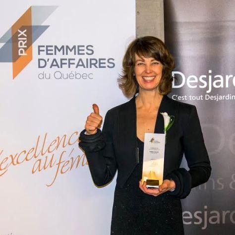 Isabelle Quinn, propriétaire des boutiques Sweet Isabelle et récipiendaire du prix du Réseau des Femmes d'Affaires du Québec dans la catégorie «Nouvelle entrepreneure»